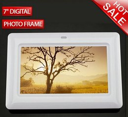 Wholesale free DHL shipping China factory supply black or white digital photo frame inch at low cost