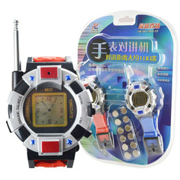 Relojes de pulsera piezas en Línea-Al por mayor Envío gratuito 2 Piezas / Lote Nuevo TWO WAY RADIO WALKIETALKIE NIÑOS NIÑOS SPY RELOJ WRISTLINX GADGET JUGUETE WALKY TALKY