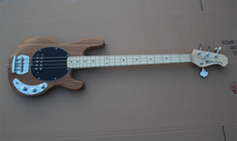 Wholesale Bass Guitar Sting Ray Music Man Nature Wood Electric Bass Best Musical instruments