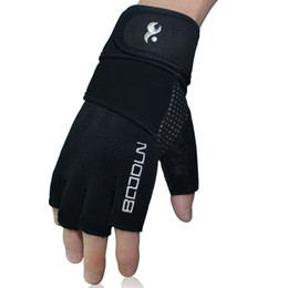 Wholesale-New Extended Wrist Fitness Gloves Unisex Semi finger Guantes Gym Weights Sports Equipment Gym Gloves zmxagl08