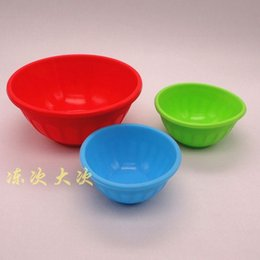 Wholesale American Standard FDA large bowl colorful silicone baby not afraid to throw another little baby No see details photographed cha