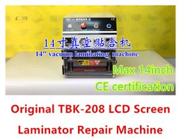 Wholesale TBK Biggest support to inches LCD Touch Screen Laminator Machine Repair Tools For iPhone S Plus Galaxy S7 Ipad Air Pro TBK