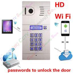 Hot New 3G 4G  WiFi IP intercom system two-way intercom and remotely unlock door, global video door phone Code Keypad