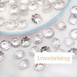 Promotion tableau acrylique clair Usine directement Vente-30% de réduction - 500pcs 10mm expédition (4 Carat) Effacer diamant Confetti Perle Acrylique Weding Party Decoration-gratuit