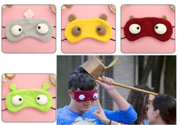 New Cartoon style BIG EYES party game Eye Mask Protective eyewear Eye Mask Cover Shade Blindfold Relax Halloween party Xmas mask gift