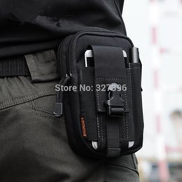Wholesale Molle Military Tactical Waist Bag Men EDC Army Fanny Pack Casual inch Mobile Phone Belt Bag Outdoor Travel Sport Waist Pack