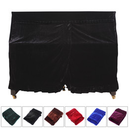 Wholesale Pleuche Musical Piano Dust proof Cover Dust Guard Tool for Upright piano MIA_657
