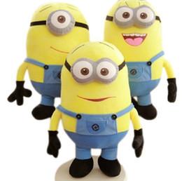 Wholesale 3pcs set Despicable ME Movie Plush Toy cm Minion Jorge Stewart Dave Minions plush toys with tags