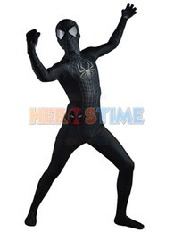 Black Spidey 3D Printed The Amazing Spiderman 2 Black Spiderman Costume Lycra Spandex Zentai Spidey Cosplay Halloween Costumes Free Shipping