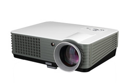 Wholesale 4000 Lumens Home Theater Audio Multimedia Movie Game HDMI USB VGA P HD LCD LED Projector Year Warranty