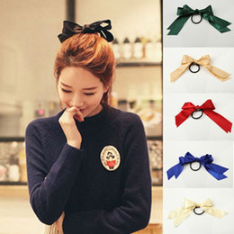Bowknot Elastic Hair Band Tie Rope Ponytail Holder Satin Ribbon Rubber Band Fashion Hair Accessories Headwear-001914