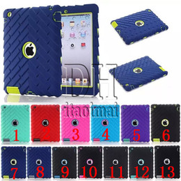3 In 1 Defender shockproof Robot Case military Extreme Heavy Duty silicon cover for ipad 2 3 4 mini 4 DHL
