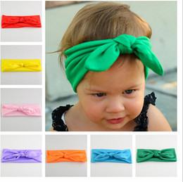 Hot selling Children hair accessories baby Spandex baby rabbit ears headdress wholesale