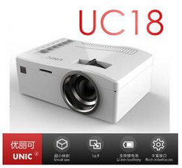 Wholesale 2016 Cheap Newest Ultra Mini projector UNIC UC18 HD P Video Projector Best gifts for Kids Parents Multi language good quality DHL