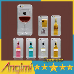 iPhone 6 case Red Wine Glass Beer Cocktail Moving Liquid 3D New Case Cover For iPhone 5 6 Plus