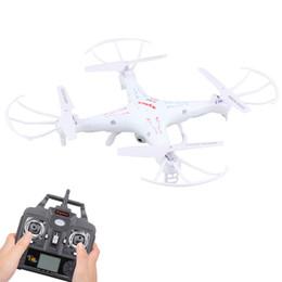 Promotion drones de caméras aériennes Télécommande Syma x5C 2.4G 4CH 6 axes Gyro aérienne RC Quadcopter Drone UAV Helikopter RTF OVNI avec 2.0MP caméra HD AFD_010