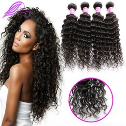 Wholesale 100 human Malaysian brazilian Indian Peruvian hair products malaysian virgin hair deep wave bundles best quality remy human curly hair