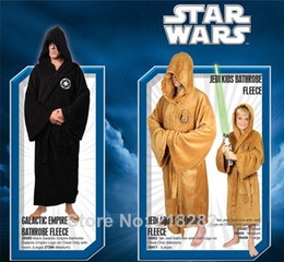 Wholesale Hot Sale Star Wars Jedi Bath Robe Bathrobe Coral Fleece Embroidered Costume Adult Bathrobe Dressing GOWN Clearnce Bathingrobe