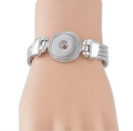 Wholesale Sell Beads Wholesale - interchangeable 18mm snap jewelry bracelets bangles hot selling silver copper ginger snap bracelets for 18-20mm ginger snaps