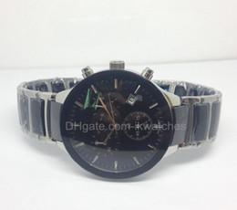 2015 new fashion stainless steel and ceramic watch quartz stopwatch top brand luxury chronograph watches men wristwatch 019