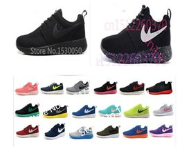 Wholesale New Rosh runs women men shoes for London Olympic lightweight breathable canvas shoes size