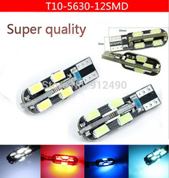 Wholesale NEWS STYLE Car Auto LED T10 W5W Smd LED License Plate Dome Map Turn Singal Light Bulb No error CANBUS