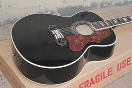 On Sale Top Quality J200 Guitar in Black Spruce Top Rosewood Back & Sides Acoustic Guitar Golden Hardware Free Shipping