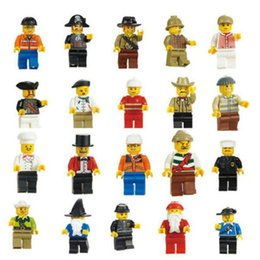 Wholesale 60Pcs Minifigures Figures Men People Minifigs Grab Bag Small Plastic People Figures Toys Model Building Kits