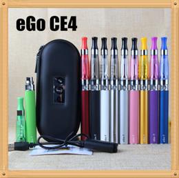 2016 factory e cigarette CE4 eGo Starter Kit E-Cig Electronic Cigarette Zipper Case package Single Kit 650mah 900mah 1100mah E-cigarette Dhl