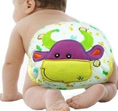 Wholesale 2015 Baby Girl Boy Pee Potty Training Pants Washable Cloth Diaper Nappy Underwear kids cartoon briefs pieces