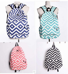 DHL Fedex chevron Backpacks Stripe travel bags 4 colors woman Canvas shoulders handbags stripe travel bags childrens school bag