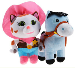 Boneca Sheriff Callie Wild West Plush Dolls Sheriff Callie Cat Horse Stuffed Toys Birthday gift for Children Kids Baby