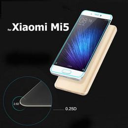Acheter en ligne Nouveaux écrans de téléphone-Xiaomi mi5 Protecteur d'écran Verre trempé 9H 2.5D 0.26mm Film Explosion Proof pour xiaomi mi5 m5 mi 5 téléphone 2016 Nouveau