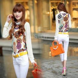 Blouse For Women Korean Fashion Long Sleeve Sheer Tops Casual Work Shirt Chiffon Blouse SV002972