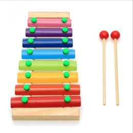 Wholesale Primary music on Piano kids baby Education wooden Piano toys Notes Xylophone Musical Instrument birthday gift present Fast Shipping Hot