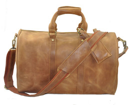 Wholesale Man Weekend Bag Duffel Bag Crazy Horse Leather Man Luggage Bag Best Quality Design Hot Sales New Arrival