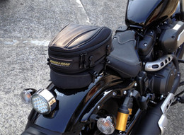 New Rough & Road motorcycle rear seat package black carbon fiber bag Compact tail bag