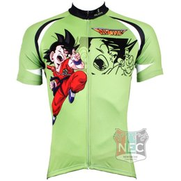 520 Dragon Ball Green 2015 Men's Short Sleeve Cycling Jersey Quick Dry Plus Size maillot quality ciclo jersey Geniune Paladin