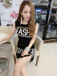 Wholesale Women Summer Fashion Dress Newspaper Letter Characters Digital Printed Vest Dress Free Size S125