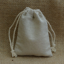 Vintage Linen Drawstring Bags Sack 8x10cm (3x4inch) Makuep Jewelry Gift Packaging Pouch