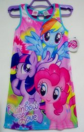 Wholesale Big girls monster hight clothes kids my little pony dresses nightgown sleepwear pjs pijama night wear girls dress