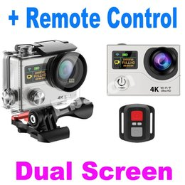 Wholesale 4K Dual Screen Inch Sports Cam With Remote Control Wifi Status Screen Waterproof M Degree Wide Angle Action Camera Extreme DV H3R
