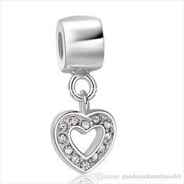 Gift Love Heart shape 925 Sterling Silver European Bead Charm Fashion pendant Jewelry For Snake Bracelet Chain
