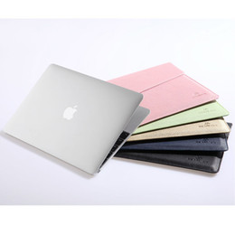 Wholesale 2015 Laptop Bags Cases for Macbook inch Air IPAD No zipper Closed Women Men s Bag Anti dust PU Leather Sleeve Cover Tablet Shell
