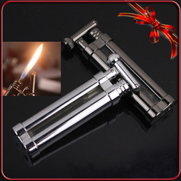 Wholesale With Cylinder Flint Wheel Smooth Classics Portable Mini Cigarette Cigar Smoking Pipe Lighter