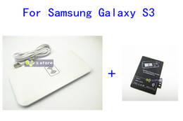 Wholesale-White MC-02A Qi Wireless Charger Transmitter Pad Mat+ Wireless Charger Receiver for Samsung Galaxy S3 i9300