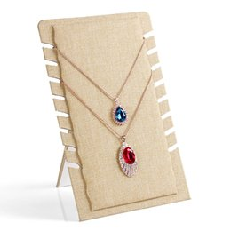 High Quality 8 Booths Linen Sweater Chain Pendant Necklace Display Stand Holder Rack Jewelry Photography Props