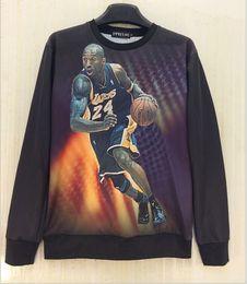 Mens sweatshirts New fashion casual Basketball superstar Kobe Bryant, James McGrady 3D printing Sweatshirts men's clothing