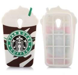 Wholesale 3D STARBUCKS Coffee Soft Silicone Case For iPhone S S Plus Samsung Galaxy S3 S5 S6 Note Ice Cream Cup Cute Fashion Back Cover Skin