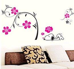 Wholesale Baby Dog Sweet Dream Spray Adesivo De Parede Infantil Enfeites Para A Casa Cartoon Wall Stickers Home Decoration